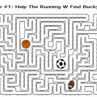 Printable Help The Running W Find Bucky - Printable Mazes - Free Printable Games