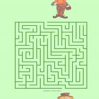 Printable Help The Scarecrow Visit His Friend - Printable Mazes - Free Printable Games