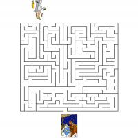 Printable Help The Sheperd Find His Way To The Stable - Printable Mazes - Free Printable Games