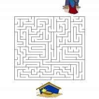 Printable Help The Sheperd Look For Baby Jesus - Printable Mazes - Free Printable Games