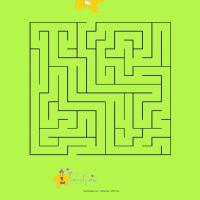 Printable Help The Star Friends Wish Each Other A Happy New Year - Printable Mazes - Free Printable Games