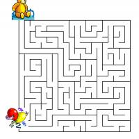 Printable Help The Teddy Find His Balloons - Printable Mazes - Free Printable Games