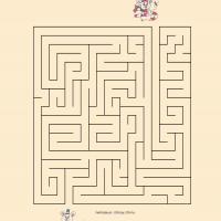 Printable Help The Two Friends Exchange Christmas Presents - Printable Mazes - Free Printable Games