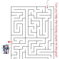 Printable Hockey Goal Maze - Printable Mazes - Free Printable Games