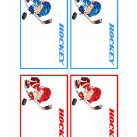 Hockey Players Name Tags