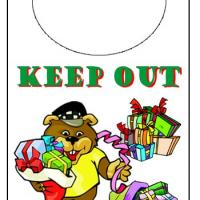 Printable Holiday Bear Door Knob Hanger - Printable Fun - Free Printable Activities
