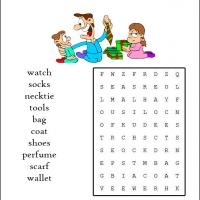 Holiday Gifts For Dad Word Search