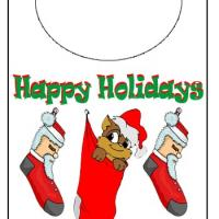 Printable Holiday Kitty Door Knob Hanger - Printable Fun - Free Printable Activities