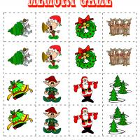 Printable Holiday Matching Game - Printable Board Games - Free Printable Games