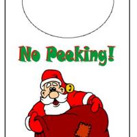 Printable Holiday Santa Door Knob Hanger - Printable Fun - Free Printable Activities