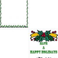 Printable Holly For Christmas - Printable Christmas Cards - Free Printable Cards