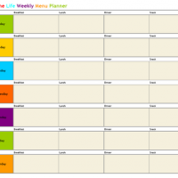 Printable Home Life Weekly Menu Planner - Printable Weekly Calendar - Free Printable Calendars