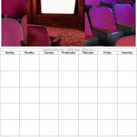 Home Theater Blank Calendar