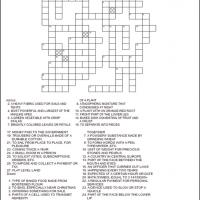 Printable Homonyms Crossword - Printable Crosswords - Free Printable Games