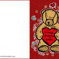 Printable Honey Bear - Printable Valentines - Free Printable Cards