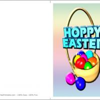 Printable Hoppy Easter - Printable Easter Cards - Free Printable Cards