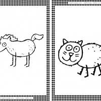 Printable Horse and Cat Flash Cards - Printable Flash Cards - Free Printable Lessons