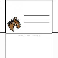 Printable Horse Design Envelope - Printable Card Maker - Free Printable Cards