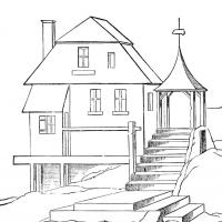 Printable House Coloring Book - Printable Coloring Book - Free Printable Coloring Pages