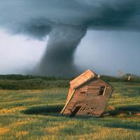 House Swept by Tornado