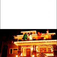 Printable House with Holiday Decors - Printable Christmas Cards - Free Printable Cards