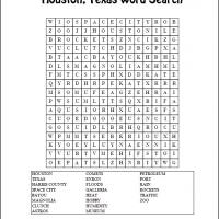 Printable Houston Texas Word Search - Printable Word Search - Free Printable Games