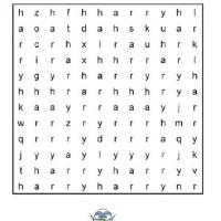 How Many Harry's Word Search