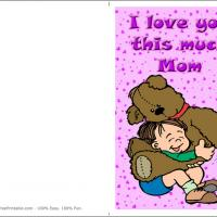 Printable How Much Do I Love My Mommy? - Printable Mothers Day Cards - Free Printable Cards