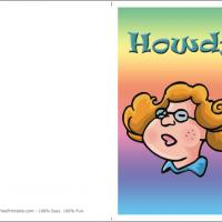 Printable Howdy Freckled Girl Card - Printable Greeting Cards - Free Printable Cards