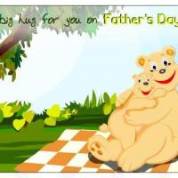 Printable Hugging Bears Postcard - Printable Fathers Day Cards - Free Printable Cards