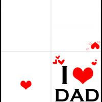 Printable I Heart Dad - Printable Fathers Day Cards - Free Printable Cards