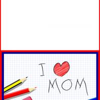 Printable I Heart Mom Scribbles - Printable Mothers Day Cards - Free Printable Cards