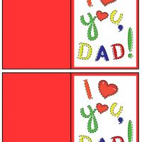 I Heart You Dad Gift Card