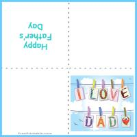 Printable I Love Dad - Printable Fathers Day Cards - Free Printable Cards