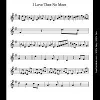 Printable I Love Thee No More - Printable Flute Music - Free Printable Music