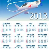 Printable I Love You Airplane 2013 Calendar - Printable Yearly Calendar - Free Printable Calendars