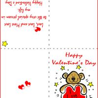 Printable I Love You Bear - Printable Valentines - Free Printable Cards