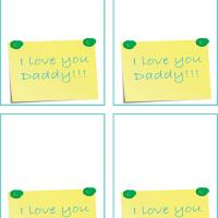Printable I Love You Daddy Note Gift Cards - Printable Gift Cards - Free Printable Cards