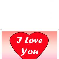 Printable I Love You In Heart - Printable Valentines - Free Printable Cards