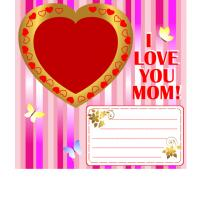 Printable I Love You Mom Scrapbook - Printable Scrapbook - Free Printable Crafts