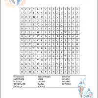 Printable Ice Cream Word Search - Printable Word Search - Free Printable Games
