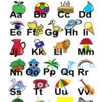 Illustrated Alphabet Flash Card