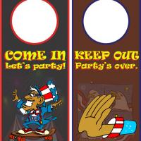 Independence Day Doorknob Hanger
