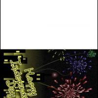 Printable Independence Day Fireworks - Printable Greeting Cards - Free Printable Cards