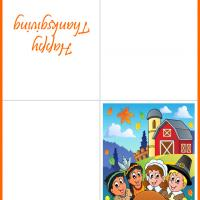 Printable Indians and Pilgrims Feast - Printable Greeting Cards - Free Printable Cards