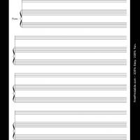 Printable instrumental solo with reduced-size solo staff - Printable Sheet Music - Free Printable Music