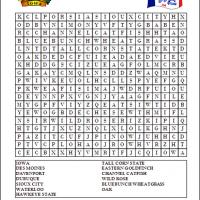 Printable Iowa Word Search - Printable Word Search - Free Printable Games
