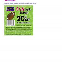 Printable iParty Save 20% Off on Entire Purchase - Printable Discount Coupons - Free Printable Coupons