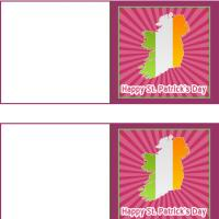 Printable Ireland St. Patrick's Day Mini Cards - Printable Greeting Cards - Free Printable Cards