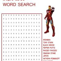 Printable Iron Man Word Search - Printable Word Search - Free Printable Games